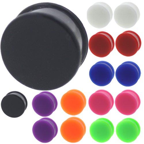 black 26 mm silicone plugs - 8