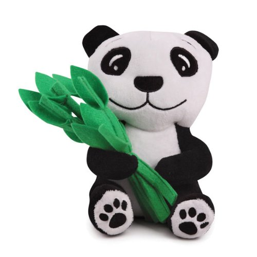 Zanies Plush and Felt Prosperity Panda Dog Toy, Small, My Pet Supplies