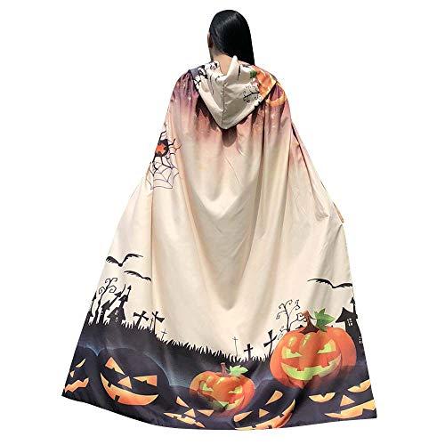 Halloween Women Cape KIKOY Novelty Pumpkin Happy Halloween Printing Shawl Cloak ()