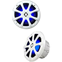 Kicker OEM Replacement White LED 6 / 6.5 4-Ohm Coaxial  Marine Speakers