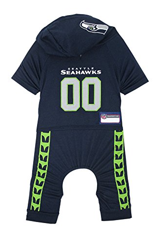 Image of NFL Seattle Seahawks Pet Onesie, Size Medium. Cutest Pet Outfit for Any Pet, Any Occasion!