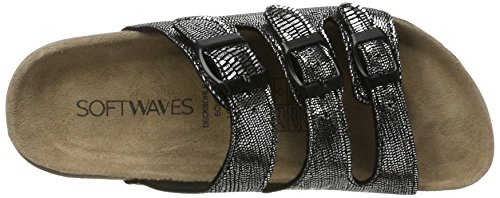 Softwaves Damen 274 372 Pantoletten Schwarz (Black)