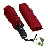 Repel Windproof Travel Umbrella with Teflon Coating (Red)