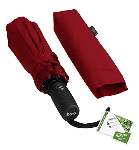repel-windproof-travel-umbrella-with-teflon-coating-red