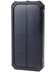 شاحن بطارية باور بنك بالطاقة الشمسية ليد بسعة 80000 مللي امبير لاجهزة ايفون، ايباد، سامسونج، اتش تي سي 6088S