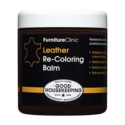 Furniture Clinic Leather Recoloring Balm  Leather Color Restorer for Furniture Repair Leather Color on Faded amp Scratched Leather Couches  16 Colors of Leather Repair Cream Dark Brown