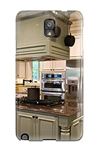 Snap-on Case Designed For Galaxy Note 3- Green Kitchen Cabinetry In White Kitchen With Island Stove And Hood