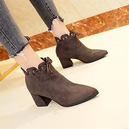 Piazza Tacchi Shorts Martin Khaki Lavoro Boot Scarpe Sharp Elegante Donna Da Stivali f8q6Hw