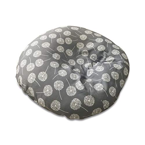 Newborn Lounger Cover Designer Look | Gray Dandelion | Water Resistant | Removable & Washable | Premium Soft Quality | Fits Boppy Infant Lounger Pillow not Included | Great Baby Shower Gift