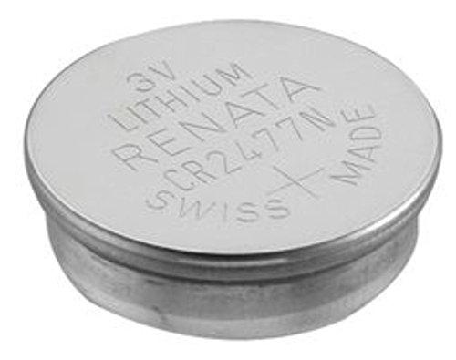 30 Renata CR2477N 3 Volt, 950mAh, Lithium Coin Battery, On Tear Strip by Renata