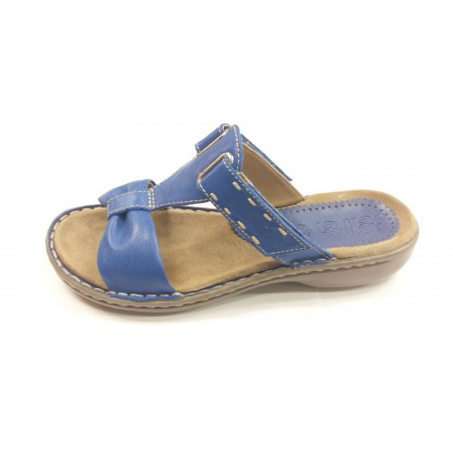 Velcro 06 Mule Electric Sandal Jenny Blue Softbrush 57221 vqBXBR