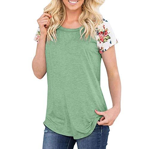 Loisir Basic Shirts Plage O Manches Vert Haut Mode Tops Splicing Chic Femme Tunique Et Col Courtes Baggy Shirt Elgante T Costume FqpPzp