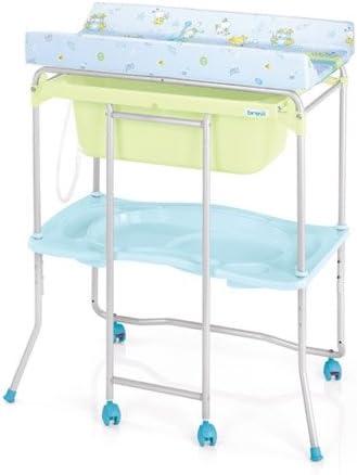 Brevi Table A Langer Avec Baignoire Lido Avec Split System Bleu Amazon Fr Bebes Puericulture