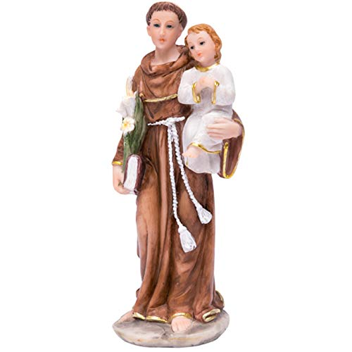 JoyStar Crafts Saint Anthony of Padua Resin Statue 6 Inch ()