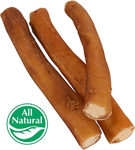 Pawstruck 7 Straight Bully Sticks Dogs [X-LARGE THICKNESS] (50 Pack) All Natural & Odorless Bully Bones | Long Lasting Dog Chew Dental Treats | Best Thick Bullie Sticks Dogs Puppies | Grass-Fed Be