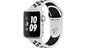 Apple Watch Nike+ Series 3 (GPS), 38mm Silver Aluminum Case with Pure Platinum/Black Nike Sport Band
