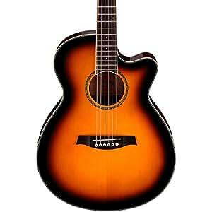 ibanez aeg10ii acoustic electric guitar vintage brown sunburst musical instruments. Black Bedroom Furniture Sets. Home Design Ideas