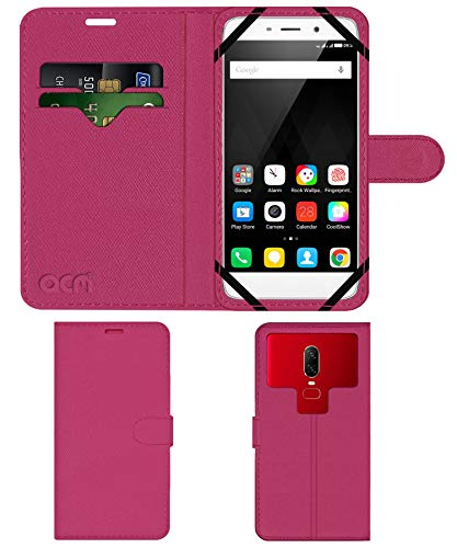 Acm Strap Leather Flip Case Compatible with Coolpad Note 3 Lite Mobile Front   Back Cover Pink