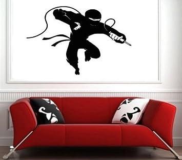 Amazon.com: Vinyl Decal Mural Sticker Ninja Jump Attack ...