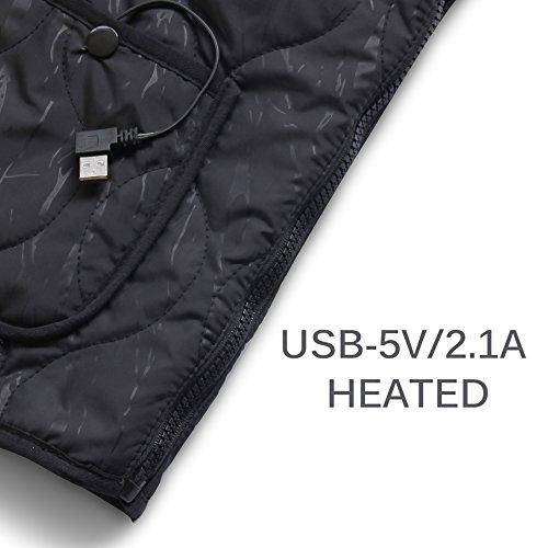 USB no y climatizada incluido Batería ajustable chaleco lavable Eléctrico tamaño y de carga está xFF08; ropa cálido xFF09; Qisheng climatizada q748nZ