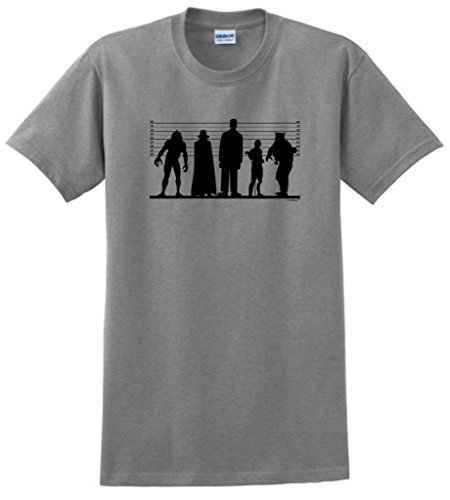 Classic Monster Line Up T-Shirt 3XL Sport Grey -