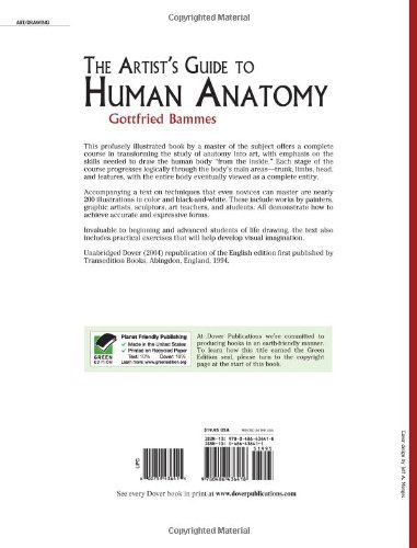 The artists guide to human anatomy dover anatomy for artists the artists guide to human anatomy dover anatomy for artists gottfried bammes 0800759436415 amazon books fandeluxe Gallery
