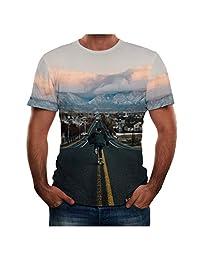 Naladoo 3D Print T-Shirt Fashion Graphic Tee Crewneck Short Sleeve Tops for Men