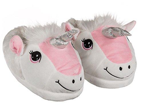 Chaussons chauds et lisses de la licorne - Des pantoufles amusantes à la mode pour les enfants et les jeunes filles [Taille 31/32] LOLO®