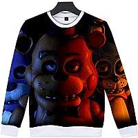 Unisex Cartoon Five Nights at Freddy 3D Cosplay Hoodies voor Man, Kids Pullover Sweatshirt Kostuum Jas