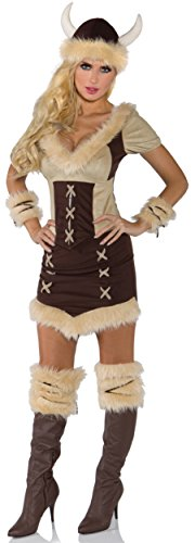 Underwraps Costumes Women's Viking Queen Costume, Brown/Tan, Large -