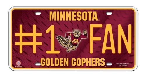 Minnesota Golden Gophers Metal (NCAA Minnesota Golden Gophers #1 Fan Metal Auto Tag)