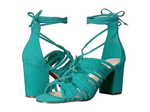 Nine West Women's Genie Suede Dress Sandal, Dark Turquois...