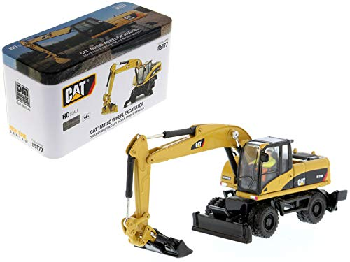 CAT Caterpillar M318D Wheeled Excavator with Operator High Line Series 1/87 (HO) Scale Diecast Model by Diecast Masters 85177