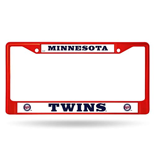 Rico Minnesota Twins MLB Red Painted Chrome Metal License Plate Frame