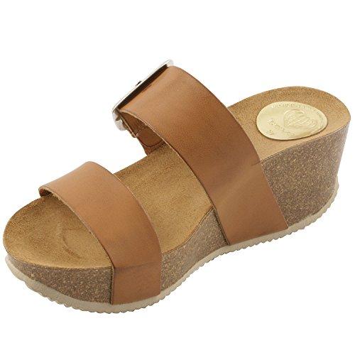 Exclusif ParisExclusif Paris Cybele, Chaussures femme Sandales cuir - Sandalias de Vestir Mujer Marrón - marrón