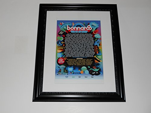 "Large Framed Bonnaroo 2015 Poster All Bands Listed Mumford, Deadmaus 24"" by 20"""