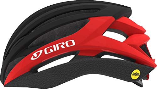 Giro Syntax MIPS Cycling Helmet - Matte Black/Bright Red Large