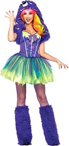 Purple Posh Monster Sexy Costumes (Purple Posh Monster Costume - Small/Medium - Dress Size 4-8)