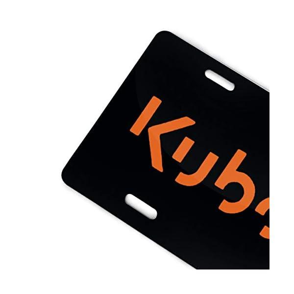 Kubota-Tractor-Orange-Logo-Aluminum-License-Plate-Cove