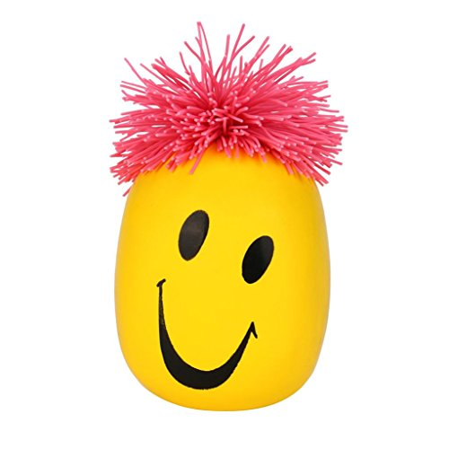 Moody Face - Staron Stress Relief Squeeze Toys Stress Ball, Super Stretchy Moody Face Stress Ball Cartoon Smile Face Doll Squeeze Toys for Kids Adult (Yellow)