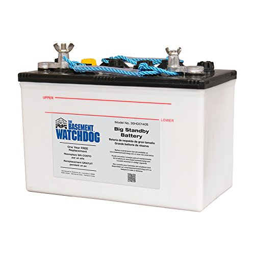 Pump Sump Backup Basement - Basement Watchdog 30HDC140S Basement Watchdog Back-Up Sump Pump Battery