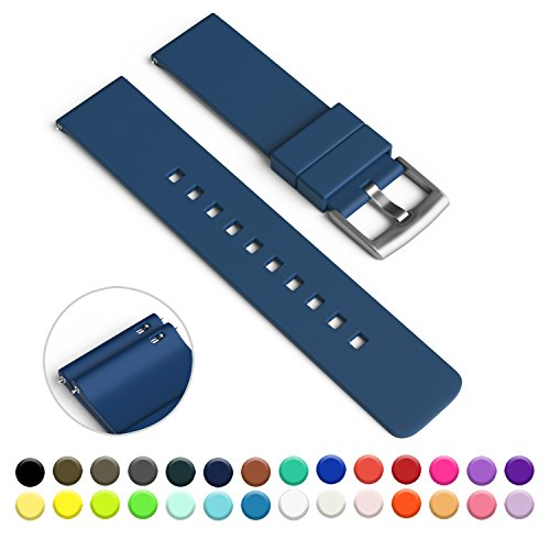 GadgetWraps 20mm Silicone Watch Strap / Band with Quick Release Pins (Police Box Blue, 20mm)