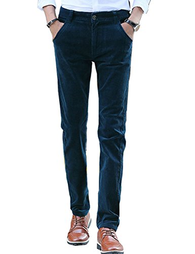 Menschwear Men's Pants Corduroy Stretch Slim Fit (31, (Surplus Corduroy Pants)