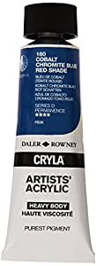 Daler Rowney: Cryla Acrylic (Acrílico): 75ml. Azul Cobalto Cromita (Sombra Roja)