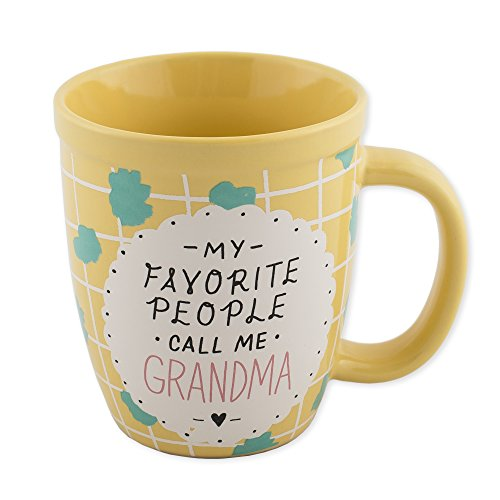 About Face Designs 185701 My Favorite People Call Me Grandma Mug by About Face Designs-13 Oz, 15 oz, yellow ()