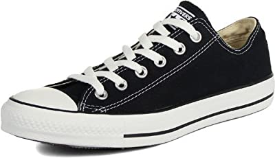 Converse Chuck Taylor All Star Low Top Unisex Canvas Oxford Shoes (9.5 Mens D(M) US/11.5 Womens B(M) US, Black)