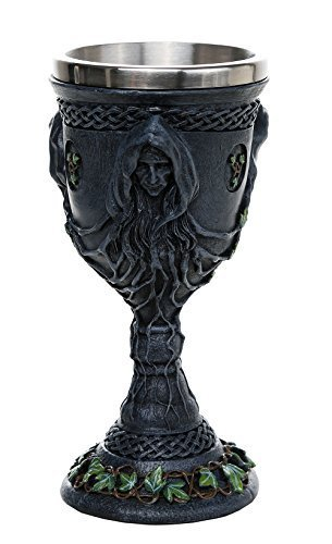 Medieval Renaissance Mother Maiden Crone Triple Goddess Chalice 12oz -