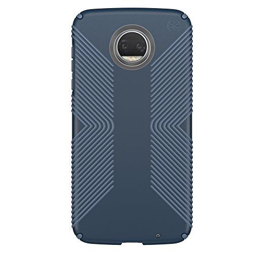 Speck Products Presidio Grip Cell Phone Case for MOTOROLA Moto Z2 Play - Marine Blue/Twilight Blue