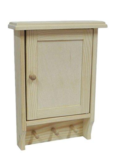 Armario llavero de madera, caja de almacenamiento para pared ...