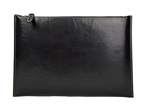 Leather pouch black leather zipped bag big leather clutch zipper pouch leather zipper pouch leather clutch zipper clutch bag handbag by ItalianHandbags